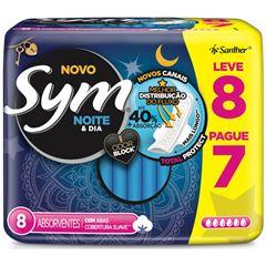 Absorvente Sym Noturno com Abas Suave embalagem com 8 unidades