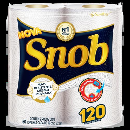 Papel Toalha Snob Pacote com 2 de 60 Folhas