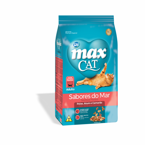 Ração Max Cat Adulto Sabores do Mar 20kg