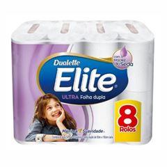 Papel Higiênico Elite Folha Dupla 8 rolos de 30m